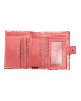 ピンク ガンチーニ二つ折り財布見る