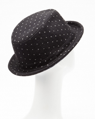 BLACK  RU.DOT HAT 6F見る