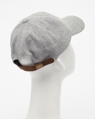 LT.GREY  RU/メルトンOE刺繍CAP見る