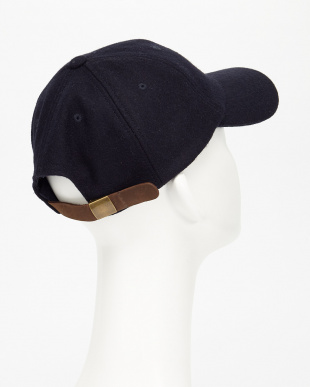 NAVY  RU/メルトンOE刺繍CAP見る