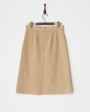 キャメル ラップ風スカート見る