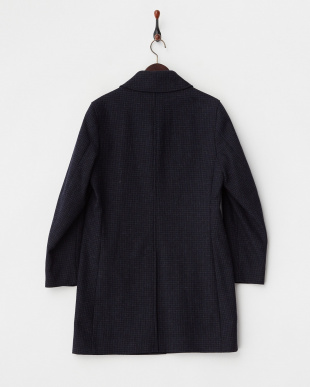 NAVY CHK  BP.WOOL BAL/C 6F見る