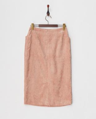 ピンク  コーデュロイタイトスカート見る