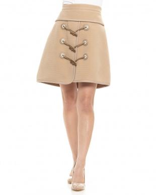 GREY  トグルボタン台形スカート見る