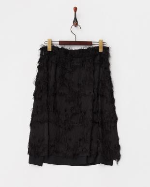 BLACK  ランダムフリンジスカート見る