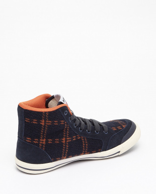 Navy/Orange/Check  INOMER HI F スニーカー見る