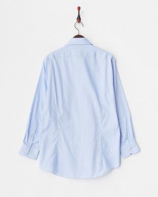 ブルー系2 ロイヤルオックスフォード調 長袖ボタンダウンワイシャツ見る