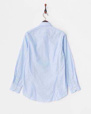 ブルー系1 ストライプ柄 長袖ボタンダウンワイシャツ見る