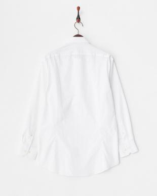ホワイト系 ブロード調 長袖レギュラーカラーワイシャツ見る