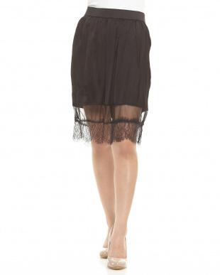 ブラック  Embellised skirt見る