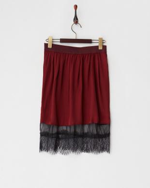ボルドー  Embellised skirt見る
