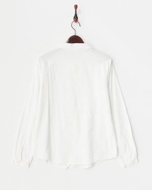 ホワイト  コーデュロイシャツ見る