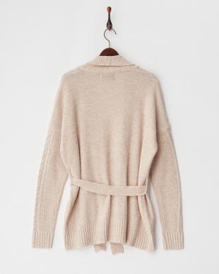 ベージュ double coller neevy knit見る