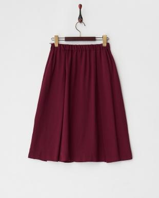 ボルドー タックプリーツスカート見る