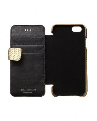 GOLD NAPPA TRECCIA iPhone 6 ケース(カード入れ付き)見る