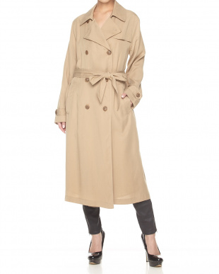 BEIGE  CANT STOP THINKING TRENCH COAT見る
