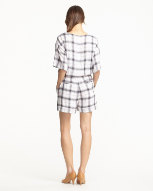 WHITE  PLAID ALL IN ONE見る