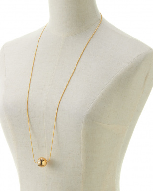 GOLD  BALL NECKLACE見る