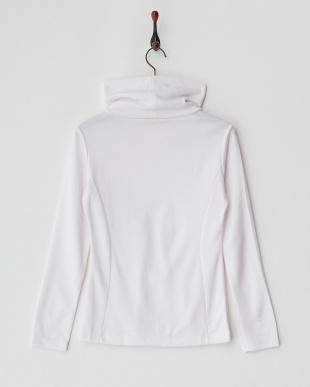 WHITE  アクリル混ツイル LSタートルネックシャツ見る