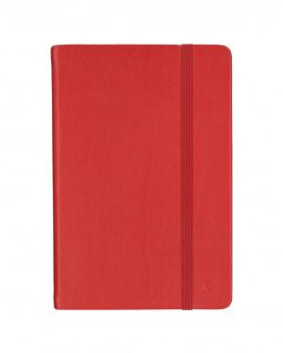 レッド/ライラック  Habana 10×15cm ゴムバンド付きノート 横罫 2冊セット見る