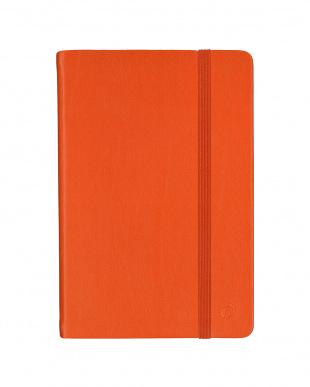オレンジ/ラズベリー  Habana 10×15cm ゴムバンド付きノート 横罫 2冊セット見る