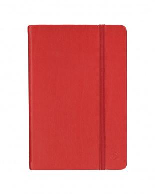 レッド/ライラック  Habana 10×15cm ゴムバンド付きノート 無地 2冊セット見る