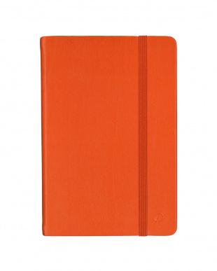 オレンジ/ラズベリー  Habana 10×15cm ゴムバンド付きノート 無地 2冊セット見る