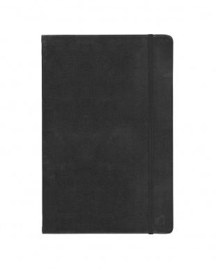 ブラック/オレンジ  Habana 16×24cm ゴムバンド付きノート 横罫 2冊セット見る
