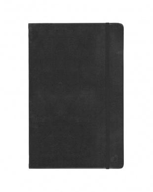 ブラック/レッド  Habana 16×24cm ゴムバンド付きノート 横罫 2冊セット見る