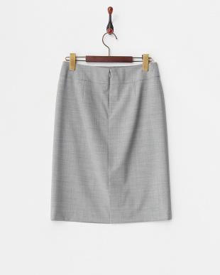 ライトグレー  ストレッチタイトスカート見る