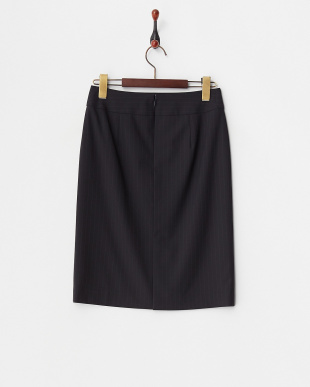 ネイビー ピンストライプタイトスカート見る