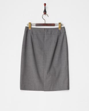 グレー  ピンストライプタイトスカート見る