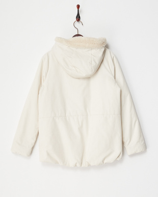 WHITE  SHERLING NYLON JACKET見る