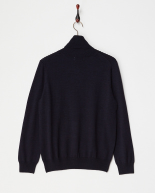 NAVY  TURTLENECK SWEATER見る