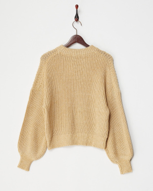 BEIGE  MIXED YARN KNIT TOP見る