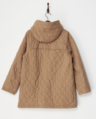 BEIGE  HEART QUILTED DUFFLE COAT見る
