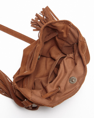 BROWN SUEDE BUCKET BAG見る