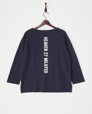 NAVY BACK LOGO L/S TEE見る