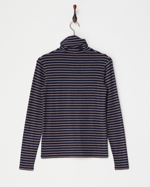 NAVY  FRIENDLY HIGH NECK TOP見る