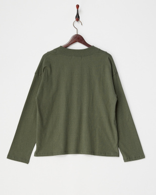 OLIVE  EMBROIDERED COLLAR CROPPED TOP見る