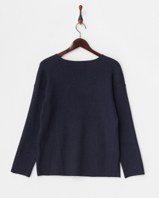 NAVY  V-NECK RIB TOP見る