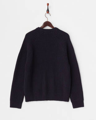NAVY  KNIT TOP見る