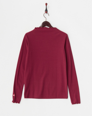 BURGUNDY HEIGHT NECK TOP見る