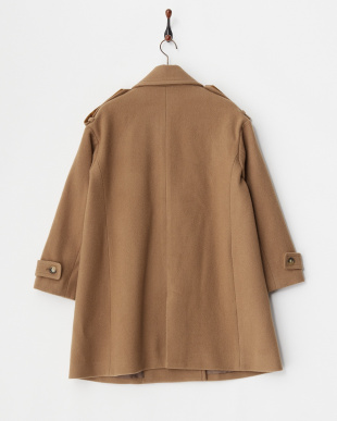 BROWN  WOOL COAT見る