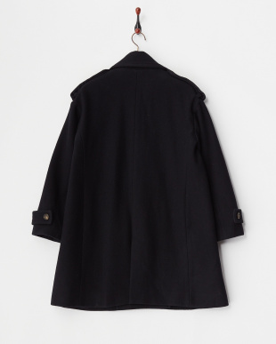 NAVY  WOOL COAT見る
