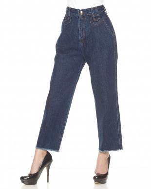 INDIGO HIGH WAIST DENIM見る