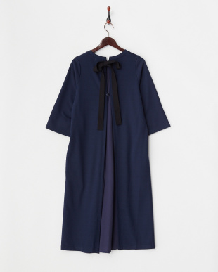 NAVY  BACK RIBBON BD DRESS見る