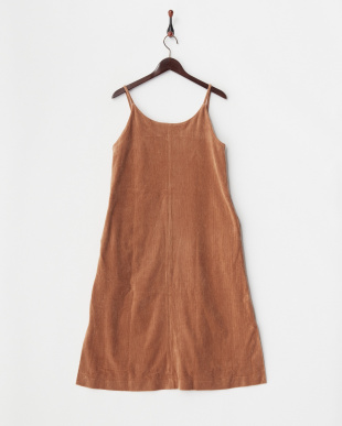 BEIGE  CORDUROY CAMI DRESS見る