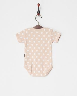 ピンク  フライスドット半袖ボディー|BABY見る
