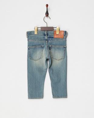 ブルー  5ポケットクロップドデニムパンツ|GIRL見る